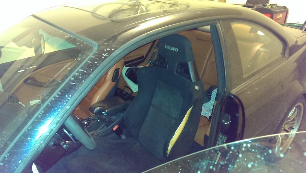Recaro SR11 Seat from Evolution X Installed in M3