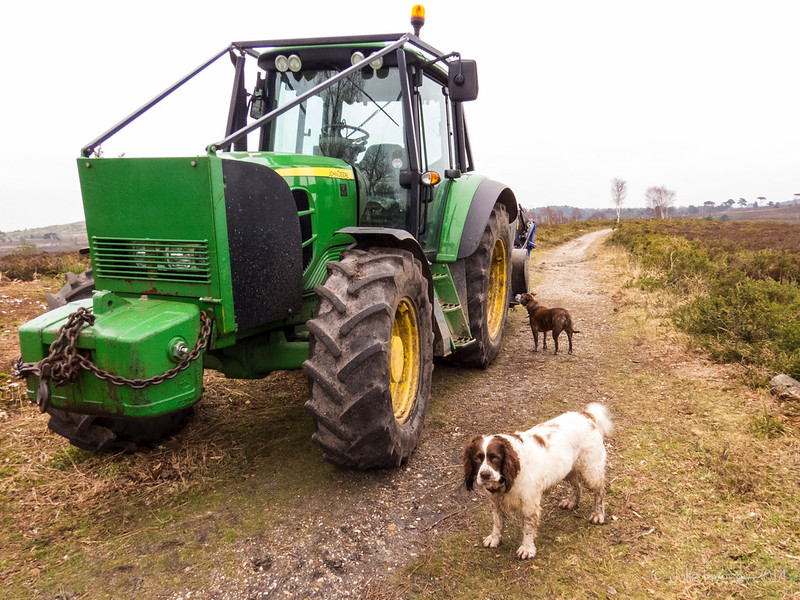 Jez has to investigate the tractor