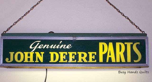 Antique 1949 Genuine John Deere Parts Electric Sign