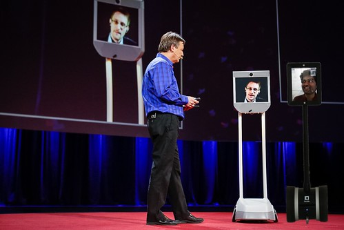A bot joins Edward Snowden at TED