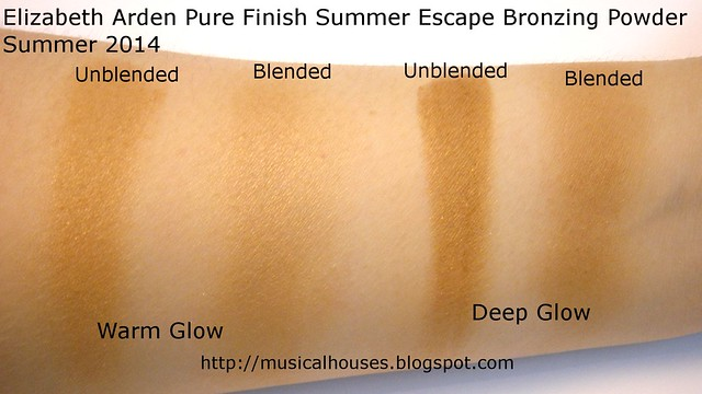 Elizabeth Arden Pure Finish Summer Escape Bronzing Powder Swatches
