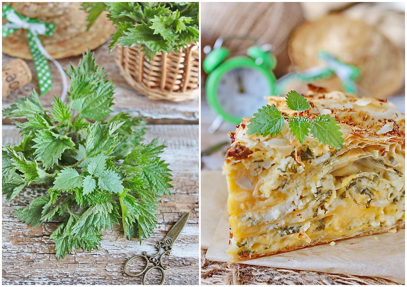 ...banitsa of phyllo with nettle colage