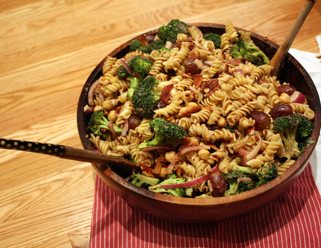Bacon, Grape and Broccoli Pasta Salad