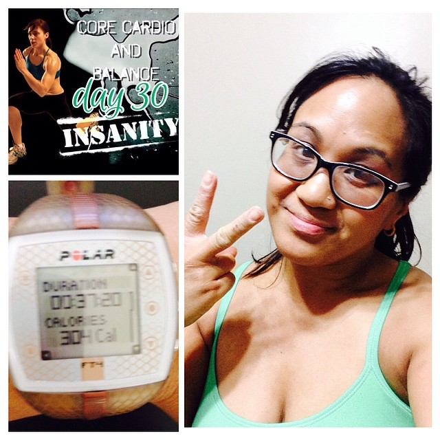 Day 2 of recovery week! My # WOTD : Day 30 of Insanity