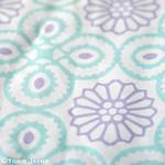 Yasmine tile print in Lavender:Duck egg blue