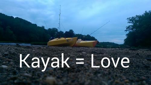 Love my kayak. Love fishing. Love life.