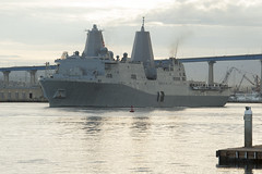 USS Green Bay (LPD 20) departs San Diego, Jan. 26. in (U.S. Navy/MCCS Donnie W. Ryan)
