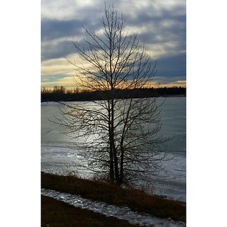 It helps to realize that the sun never stops shining, no matter the variety and constancy of the clouds that drift and enclose us. -- Mark Nepo  #frozenwater #winterreturns #clouds #sky #capturecalgary #yyc #yycweather #glenmore #glenmoredam #walking #tgi
