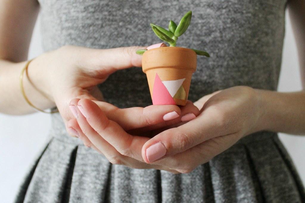 diy: geometric mini-planter