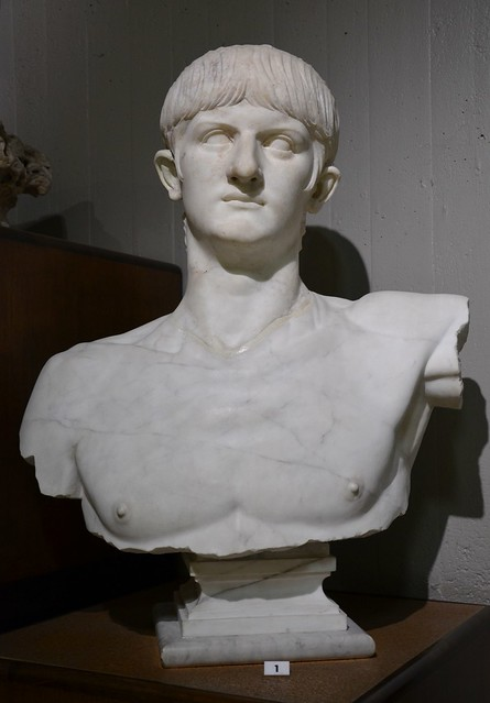 Marble bust of Nero, from Olbia (forum?), AD 54/55-59, Cagliari, Museo Archeologico Nazionale