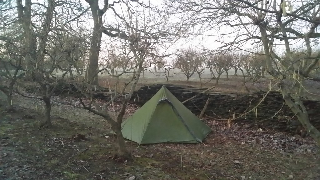 Camp amidst the fruit trees #Wealdway #sh