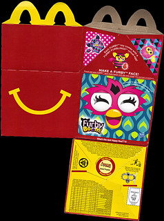 "McDonald's Happy Meal :: ""TEENAGE MUTANT NINJA TURTLES Skate Park & FURBY BOOM!"" box i (( 2014 ))"