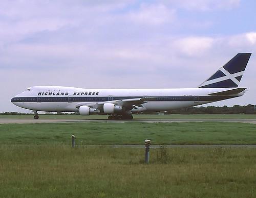 G-HIHO Boeing 747-123 Highland Express STN July 1987