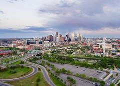 Denver Skyline from the Sky