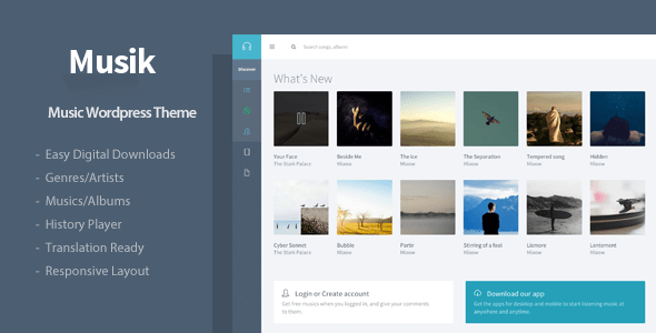 Musik v2.3.3 - Responsive Music WordPress Theme