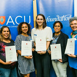 ACUscholarship2016-196Weemala Gail Barney, Fiona Manoa, Erin Taylor Healey, Attika Edgar and Christine Luck