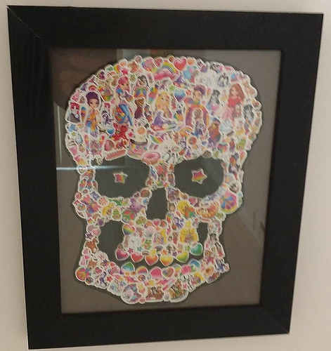 Lisa Frank skull #art | by DanCentury