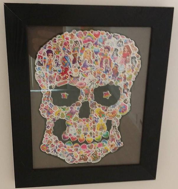 Lisa Frank skull #art