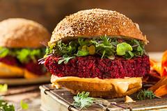 Healthy Baked Red Vegan Beet Burger