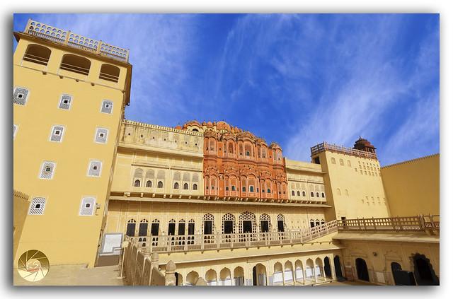Hawa Mahal Palace (Palace of Winds), famous landmark of Jaipur
