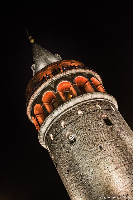 Galata Tower by night!