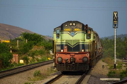 ir passenger alco indianrailways kiat swr kjm 13053 56227 wdg3a kyatsandra sbcsmet bangaloreshimoga