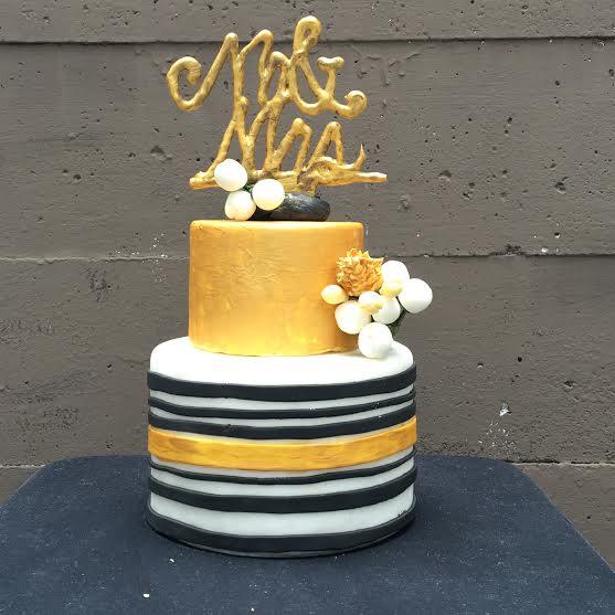 Golden Yellow Cake by Elisha Jaafar of Cupcaliciousness
