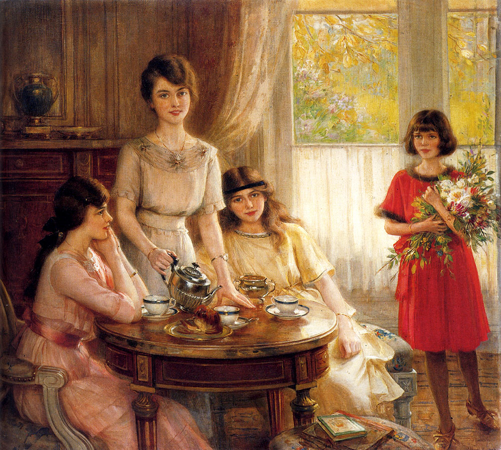 Tea Time by Albert Lynch