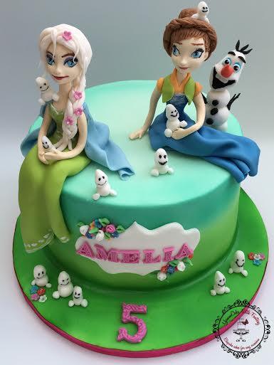 Frozen Inspired Cake by Marzena Anna Romanik-Cwik - YummCake With Fantasy