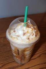 ice cream(0.0), sundae(0.0), produce(0.0), dish(0.0), frappã© coffee(1.0), whipped cream(1.0), food(1.0), dairy product(1.0), affogato(1.0), drink(1.0), cream(1.0), latte(1.0), milkshake(1.0),
