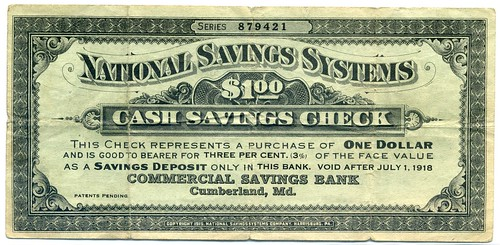 National Savings Systems One Dollar front