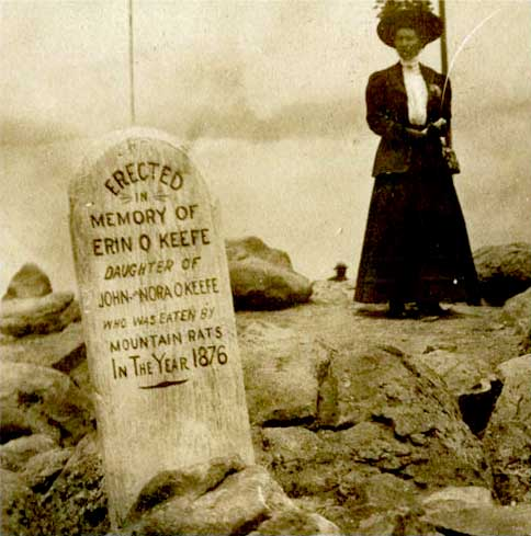"1876:  Grave - ""Eaten by mountain rats"", Colorado"