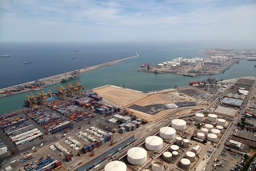 Enlargement of a railway terminal at Barcelona Port