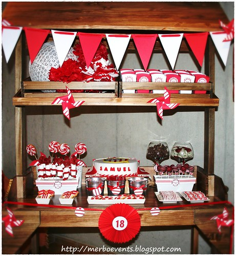 Sweet table red&white 3Merbo Events