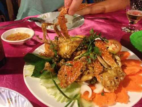 Crab marinated in Kampot pepper sauce