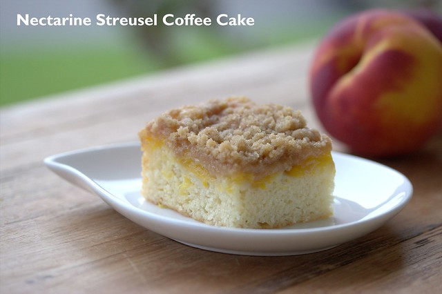 Nectarine Streusel Coffee Cake