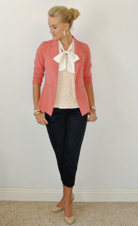 OOTD pink navy sequins