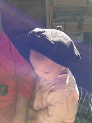 Polar fleece toddler beret