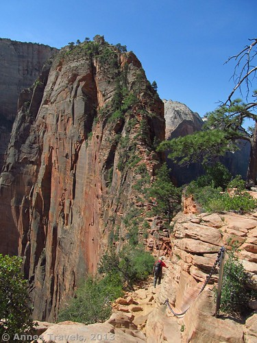 Angel's Landing, as seen from about 1/4 of the way up the trail, Zion National Park, Utah