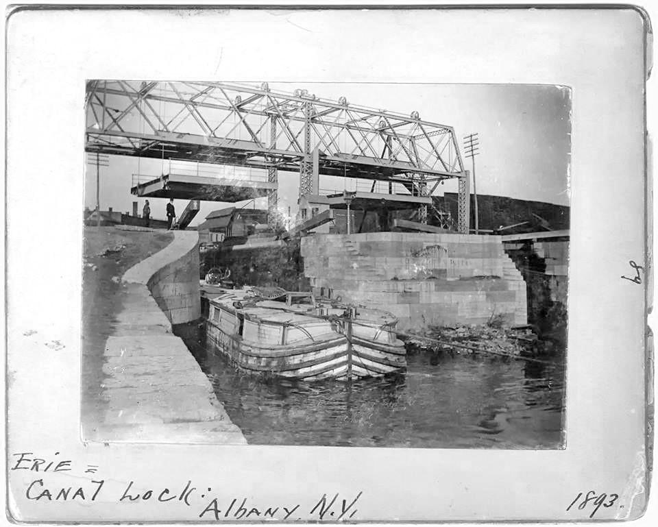 Erie canal Lock 1893  albany ny  1890s
