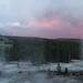 Small photo of Rainbow and Sunset behind Sulphur Cauldron