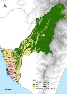 圖一、高雄生態系統資源土地分布示意圖