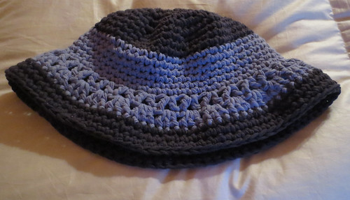 T-Shirt Yarn Crocheted Bucket Hat
