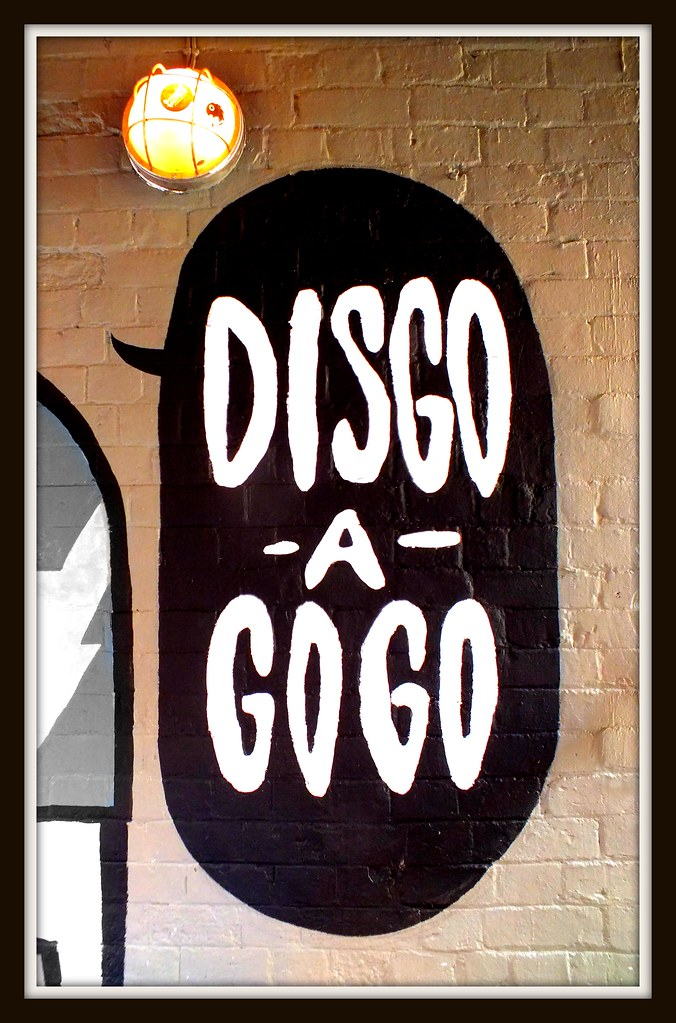 Disco a Gogo street art on Womanby Street, Cardiff