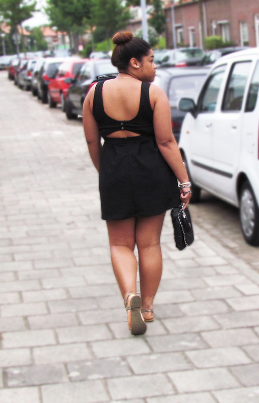 Springfield, open back dress, lbd, black dress, ombre hair, bebe, new look, ootd, wiwt,wiww, outfit of the day, blog, blogger, fashion blogger