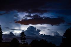 Lightning Lit Night Skies