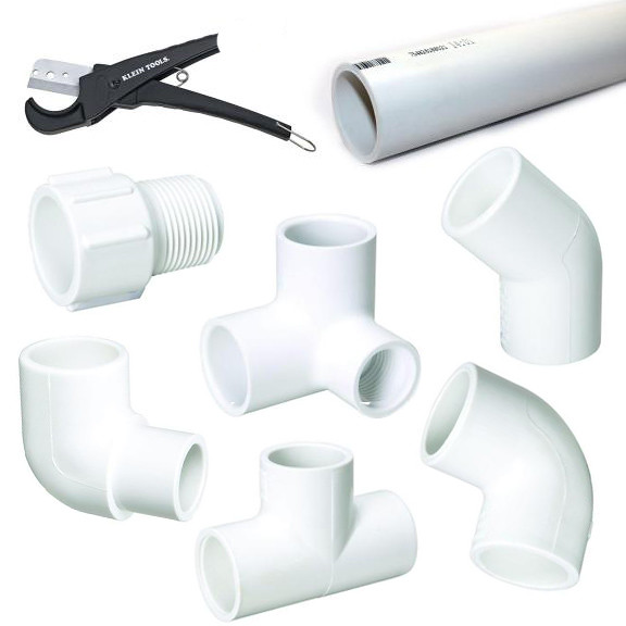 PVC Pipe Fort - materials