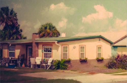 Image of a beach house near Flagler Beach using Snap Art 3