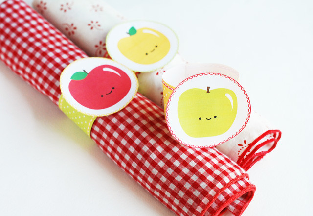 Happy Apple Napkin Rings