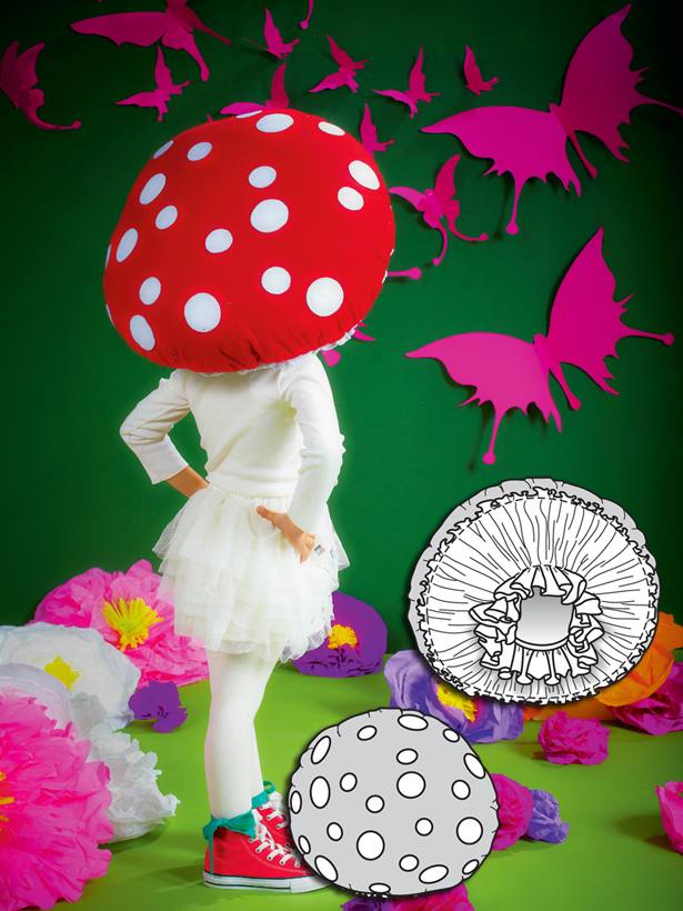 nothing says whimsical like a magic mushroom costume this poofy headdress is so fun and unique for kids of all ages or wear it with a little white dress